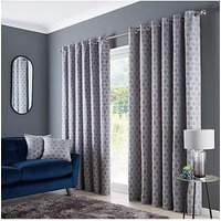 Product photograph showing Geo Eyelet Curtains
