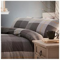 Product photograph showing Silentnight Classic Check Brushed Cotton Duvet Cover Set