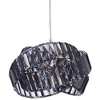 Product photograph showing Chandler Rings Easy-fit Pendant Lightshade - Smoke
