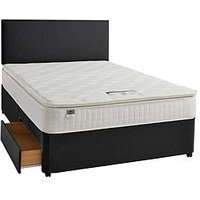 Product photograph showing Silentnight Mirapocket Mia 1000 Memory Pillowtop Divan Bed With Storage Options - Medium Firm