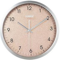 Product photograph showing Tower Glitz Blush Wall Clock