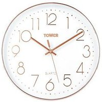 Product photograph showing Tower Quartz Wall Clock