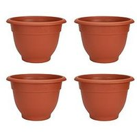 Product photograph showing Wham Set Of 4 Terracotta Colour 48cm Round Bell Planters