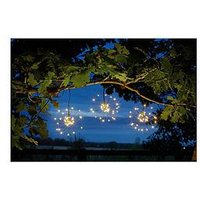 Product photograph showing Smart Solar Triple Starburst String Lights
