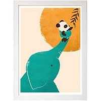 Product photograph showing East End Prints Panda Rsquo S Little Helper By Jay Fleck A3 Wall Art