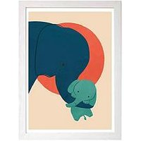 Product photograph showing East End Prints Baby Elephant By Jay Fleck A3 Wall Art