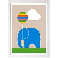 Product photograph showing East End Prints Elephant By Dicky Bird A3 Framed Wall Art