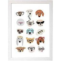 Product photograph showing East End Prints Dogs In Glasses Nu Hanna Melin - A3