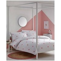 Product photograph showing Appletree Tufted Star Duvet Cover Set In Pink - Single