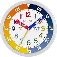 Product photograph showing Tikkers Multicoloured Time Teacher Wall Clock