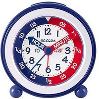 Product photograph showing Tikkers Time Teacher Alarm Clock Ndash Red And Blue