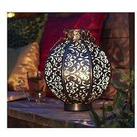 Product photograph showing La Hacienda Morocco Globe Medium Lantern