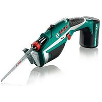 Product photograph showing Bosch Keo Cordless Garden Saw With Integrated 10 8v Lithium-ion Battery