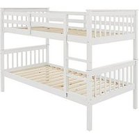 Product photograph showing Novara Bunk Bed - Bunk Bed Frame With 2 Premium Mattresses