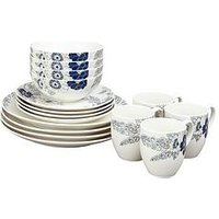 Product photograph showing Denby Monsoon Fleur 16-piece Dinner Set