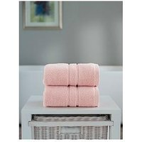 Product photograph showing The Lyndon Co Chelsea Super Soft 600 Gsm Zero Twist Bath Sheet - Pink