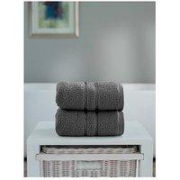 Product photograph showing The Lyndon Co Chelsea Super Soft 600 Gsm Zero Twist Bath Sheet - Charcoal