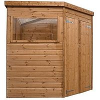 Product photograph showing Mercia 7x7 Feet Premium Pressure Treated Shiplap Corner Shed