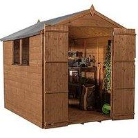 Product photograph showing Mercia 8x6 Premium Shiplap Pressure Treated Apex Shed
