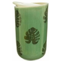 Product photograph showing Sass Belle Cheese Plant Leaf Ceramic Travel Mug