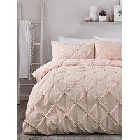 Product photograph showing Serene Lara Duvet Cover Set - Blush