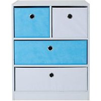 image-Lloyd Pascal Cube 2 + 2 Kids Storage Unit - Blue/White