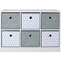 Product photograph showing Lloyd Pascal 6 Cube Storage Unit With Hearts