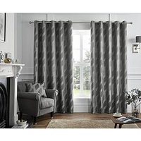 Product photograph showing Curtina Houston Lined Eyelet Curtains