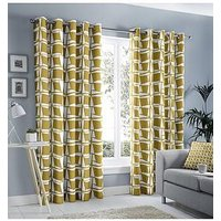 Product photograph showing Fusion Capella Lined Eyelet Curtains