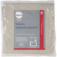 Product photograph showing Harris Seriously Good Cotton Rich Dust Sheet