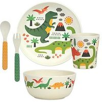 Product photograph showing Petit Collage Bamboo Baby Dinnerware Set - Dinosaurs