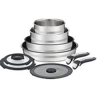 Product photograph showing Tefal Ingenio Jamie Oliver 9 Piece Pan Set