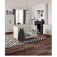 image-Mamas & Papas Caprio Furniture Range Wardrobe, Cot &Amp Dresser - White/Natural