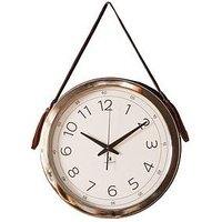 Product photograph showing Gallery Yalding Wall Clock With Faux Hanging Strap