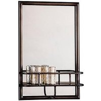 Product photograph showing Gallery Milton Mirror With Shelf