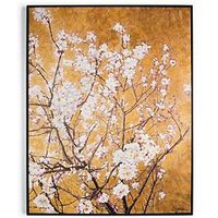 Product photograph showing Graham Brown Oriental Blossom Hand Painted Framed Canvas Print