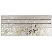 Product photograph showing Graham Brown Metallic Meadow On Wood Wall Art