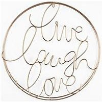 Product photograph showing Graham Brown Live Laugh Love Metal Wall Art