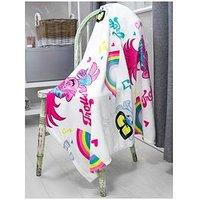 Product photograph showing Dreamworks Trolls World Tour Concert Fleece Blanket