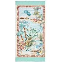 image-Accessorize Aloha Cotton Velour Beach Towel