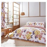 Product photograph showing Catherine Lansfield Elina Floral Duvet Cover Set