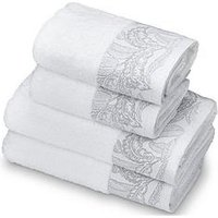 Product photograph showing Accessorize Mozambique 4-piece Towel Bale - White