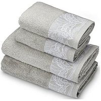 Product photograph showing Accessorize Mozambique 4-piece Towel Bale - Grey