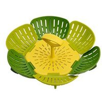 Product photograph showing Joseph Joseph Bloom Folding Steamer Basket