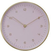 Product photograph showing Premier Housewares Elko Gold Pink Wall Clock