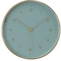 Product photograph showing Premier Housewares Elko Gold Mint Wall Clock