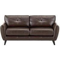 Product photograph showing Boston Leather 3 Seater Sofa