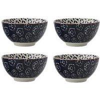 Product photograph showing Maxwell Williams Boho Kiraku Blue Dipping Bowls Ndash Set Of 4