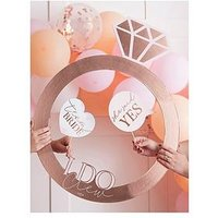 Product photograph showing Ginger Ray Rose Gold Ring Photo Booth Frame