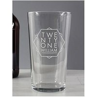 Product photograph showing Personalised Birthday Pint Glass